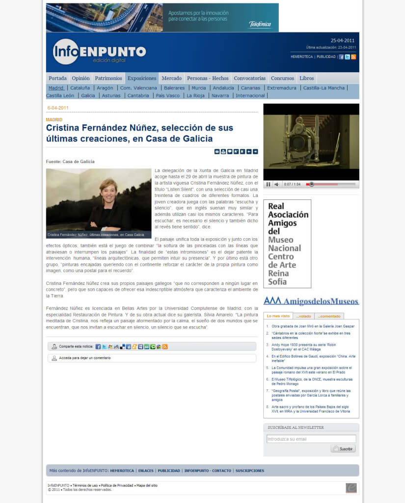 """Listen:Silent en la prensa. """"Infoenpunto.com"""""""